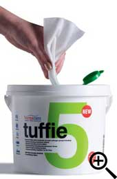 Tuffie 5 Biocidal wipes 225/tub