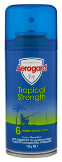Aeroguard insect repellent tropical strength aerosol can 150g