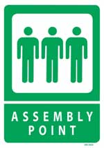 Assembly Point PVC sign