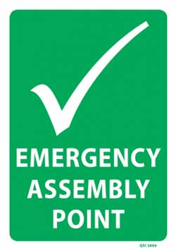 Emergency Assembly Point PVC sign