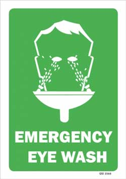 Emergency Eye Wash PVC sign