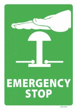 Emergency Stop - PVC sign