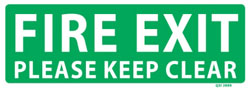 Fire Exit - Please Keep Clear PVC Sign