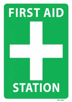 First Aid Station PVC Sign