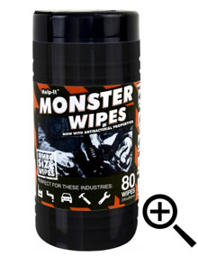 Help-It 'MONSTER' Wipes - Tub of 80