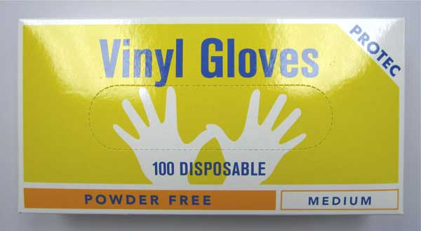 Protec Vinyl gloves large