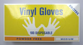protec vinyl gloves small