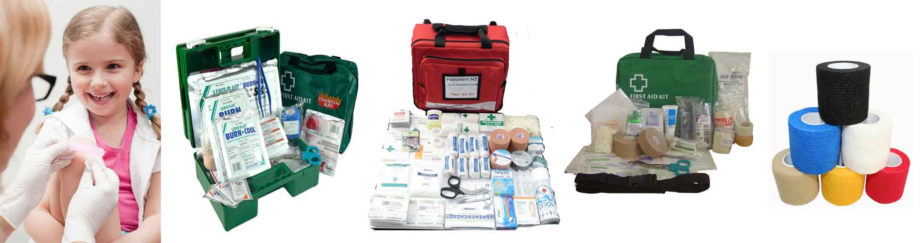 first aid kits and equipment