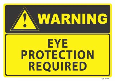eye warning protection signage