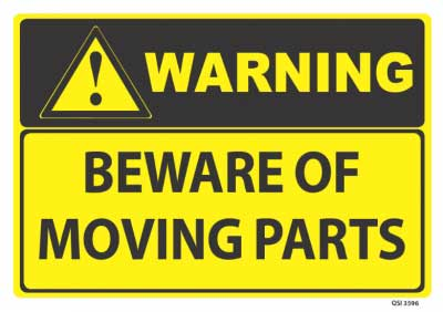 warning moving parts