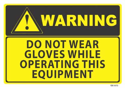 no gloves warning sign